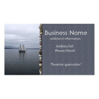 Solitary Sail Double-Sided Standard Business Cards (Pack Of 100)