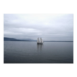 Solitary Sail Personalized Invites
