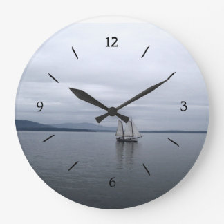 Solitary Sail Large Clock