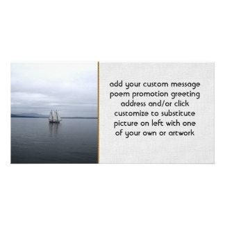 Solitary Sail Customized Photo Card