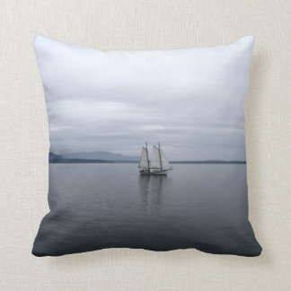 Solitary Sail Throw Pillow