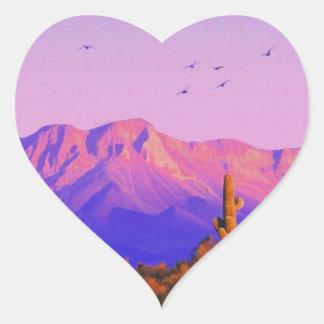 Solitary Silent Sentinel Heart Sticker
