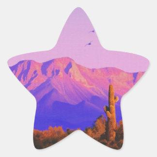 Solitary Silent Sentinel Star Sticker