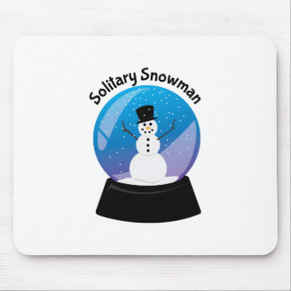 Solitary Snowman Mousepad