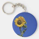 Solitary Sunflower Keychain
