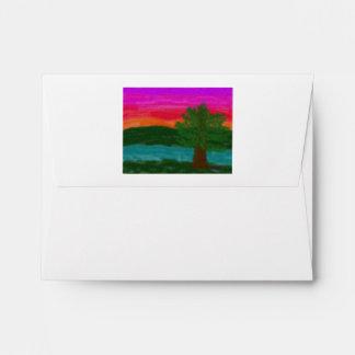 Solitary Sunrise Notecard Envelope