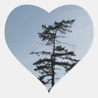 Solitary Survivor Tree Heart Sticker