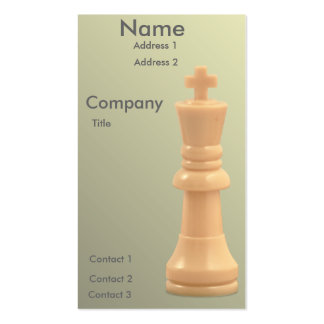Solitary White King Business Card