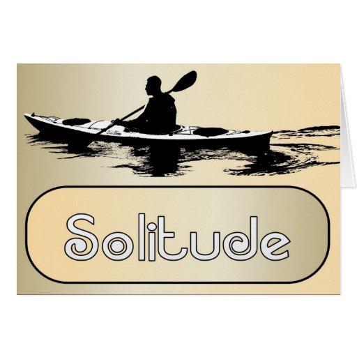 Solitude All-Purpose Kayak Greeting Card Linen