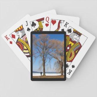 Solitude at Cayuga Lake Playing Cards