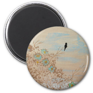 Solitude From Original Painting 2 Inch Round Magnet