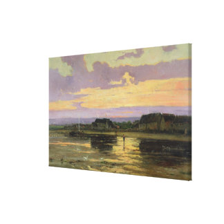 Solitude in the Evening, Morsalines Canvas Print