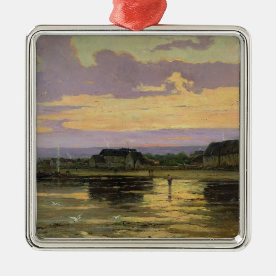 Solitude in the Evening, Morsalines Metal Ornament