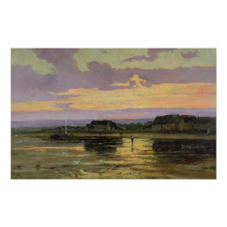 Solitude in the Evening, Morsalines Poster