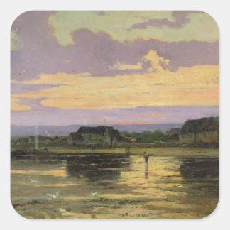 Solitude in the Evening, Morsalines Square Sticker