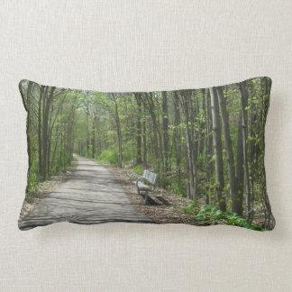 Solitude of a Walk Throw Pillows