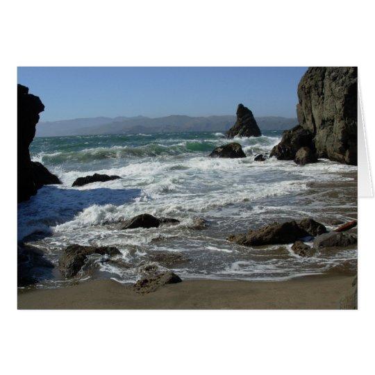 solitude on the beach card