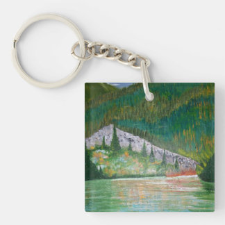 Solitude Single-Sided Square Acrylic Keychain