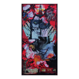 Solitude Stands Goth Love Mixed Media Collage Art Poster