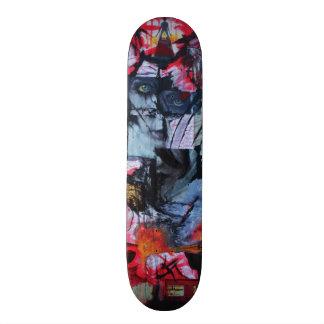Solitude Stands Mix Media Original Art Skate Deck