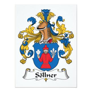 "Sollner Family Crest 6.5"" X 8.75"" Invitation Card"