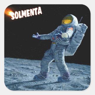 Solmenta Astronaut Square Sticker