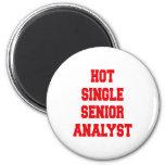 Solo analista senior caliente imán redondo 5 cm