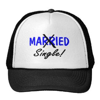 Solo azul divorciado gorras