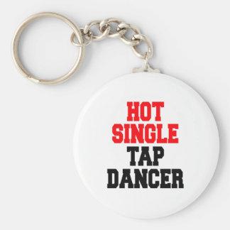 Solo bailarín de golpecito caliente llaveros