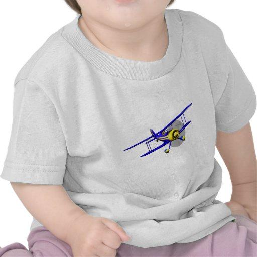 Solo biplano azul camiseta