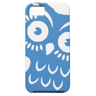 Solo búho azul iPhone 5 carcasas
