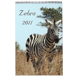 solo calendario de la página de la cebra 2011