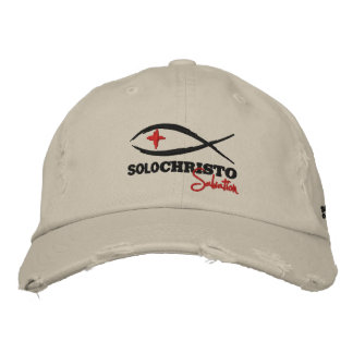 "Solo Christo ""Salvation Series"" Embroidered Baseball Hat"