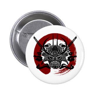 Solo círculo de la sangre de Enso del samurai Pin Redondo 5 Cm