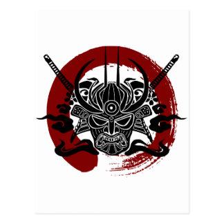 Solo círculo de la sangre de Enso del samurai Tarjetas Postales