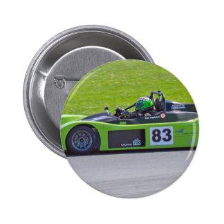 Solo coche de carreras verde del seater pins