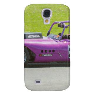 Solo coche de competición púrpura del seater