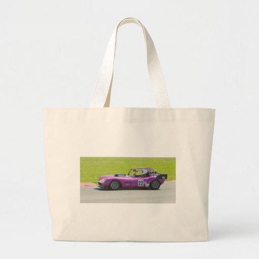 Solo coche de competición púrpura del seater bolsa de mano
