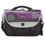 Solo coche de competición púrpura del seater bolsa de ordenador