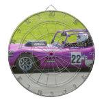 Solo coche de competición púrpura del seater tabla dardos