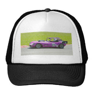Solo coche de competición púrpura del seater gorros