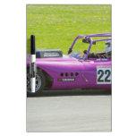Solo coche de competición púrpura del seater pizarra blanca