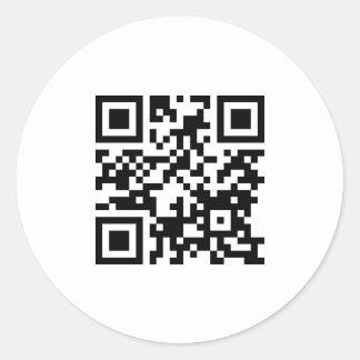 Solo CÓDIGO del Web site QR de la propiedad Pegatina Redonda