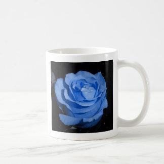 Solo color de rosa azul tazas de café