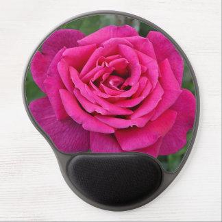 Solo color de rosa rosado alfombrilla de ratón con gel