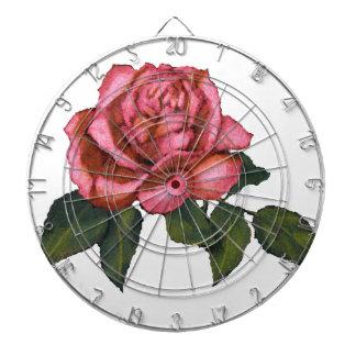 Solo color de rosa rosado Dibujo de lápiz del col Tablero Dardos