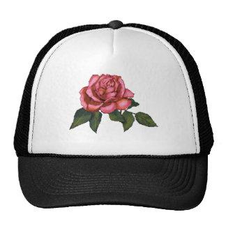 Solo color de rosa rosado: Dibujo de lápiz del col Gorro De Camionero