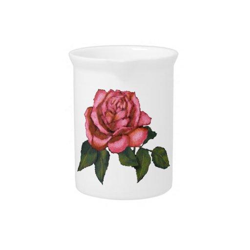 Solo color de rosa rosado: Dibujo de lápiz del col Jarrones