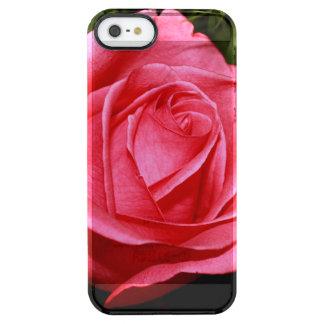 Solo color de rosa rosado funda clearly™ deflector para iPhone 5 de uncommon