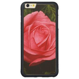 Solo color de rosa rosado funda de arce bumper carved® para iPhone 6 plus